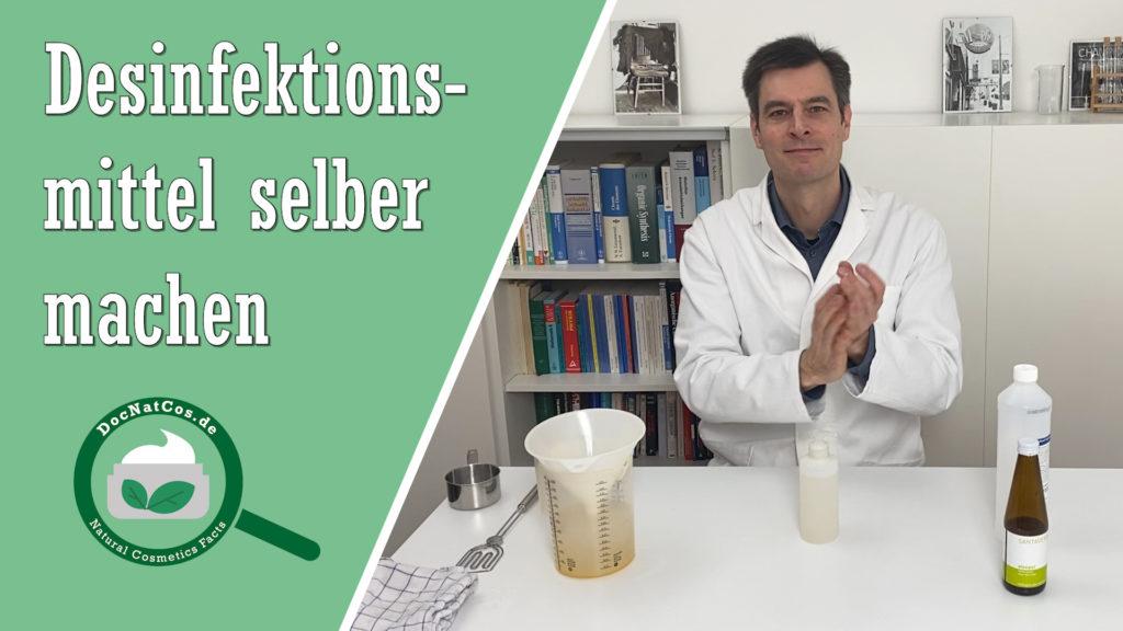 Einfaches Händedesinfektionsmittel selbst anrühren aus zwei Rohstoffen (analog WHO)